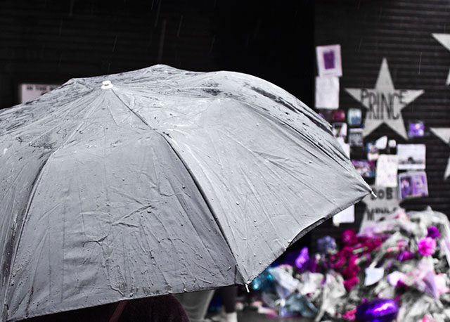 First Ave. Prince memorial -- photo by Matthew Terry