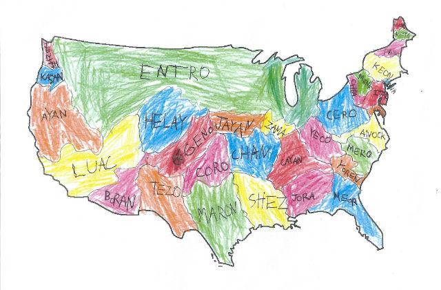 """New U.S. Map"" by Benjamin Bishara"