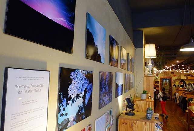 "Dawn Frary's show, ""Vibrational Frequencies of the Spirit World,"" is up at White Rabbit -- photo by Adam Burke"