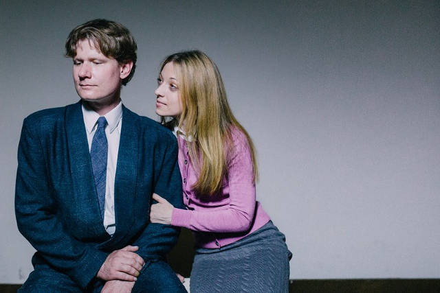 Matthew James (L) and Jessica Wilson in 'House of Yes' -- photo via RHCR Theatre's Facebook page