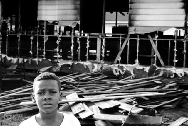 Bombed church, Mississippi, 1964 -- image courtesy of Ted Polumbaum/Newseum