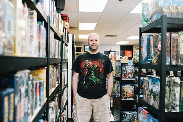 Owner of Critical Hit Games Chance Kirchhof -- photo by Britt Fowler