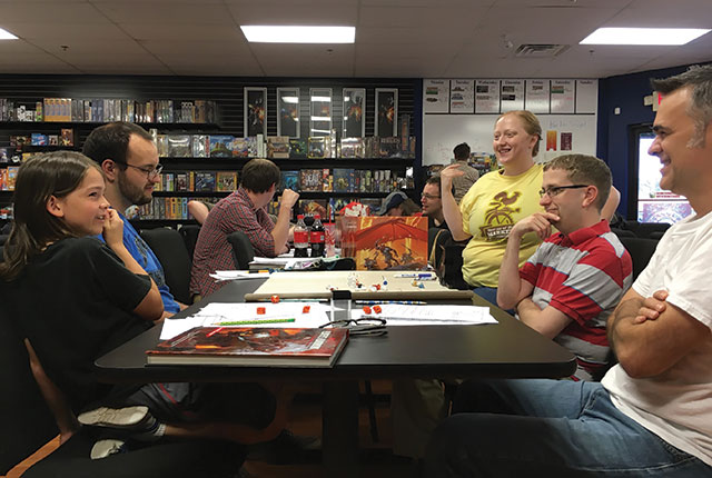 Dungeons & Dragons players at Geek City in Coalville -- photo by Jordan Sellergren