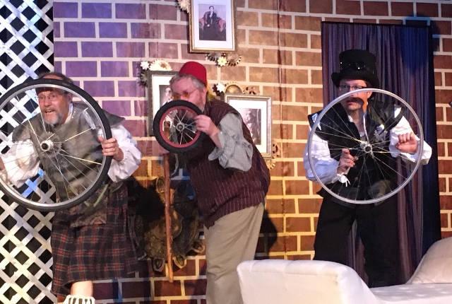 Pictured, L-R: John Gruber-Miller (Sir Andrew), Duane Larson (Sir Toby), Joe Williams (Fabian) -- photo by Grant Freeman