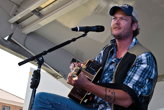 Country star Blake Shelton will headline Kinnick's first Back Porch Revival -- photo by Daniel Hughes
