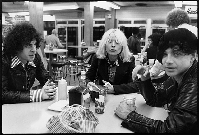 Martin Rev, Debbie Harry and Alan Vega,  proving there's no place they can't look cool -- photo by Chris Stein