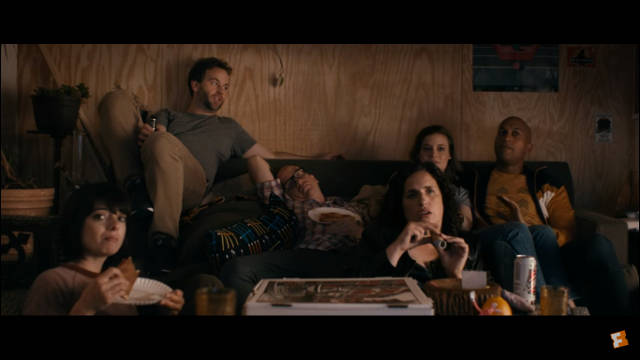 The Commune watches 'Weekend Live' -- still from Mike Birbiglia's 'Don't Think Twice'