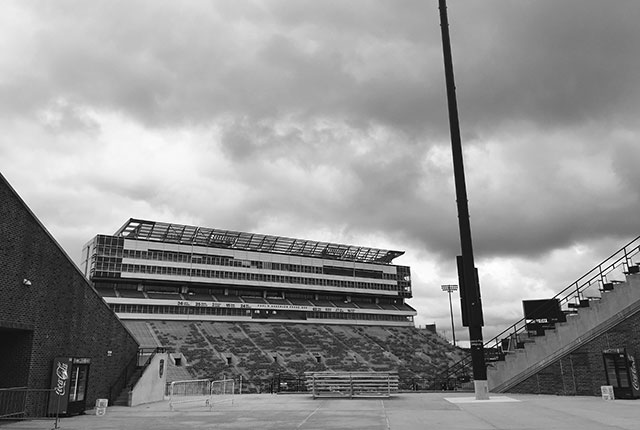 Kinnick Stadium, which opened in 1929, can hold upwards of 70,000 people -- photo by Jordan Sellergren