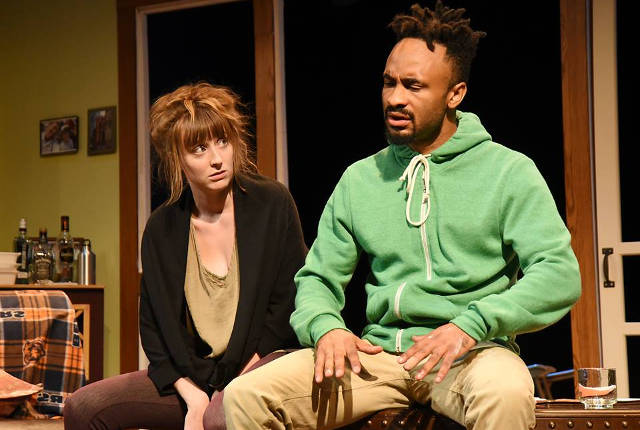 Alyssa Perry and Barrington Vaxter in Sean Christopher Lewis' 'Black and Blue' -- photo courtesy of Riverside Theatre