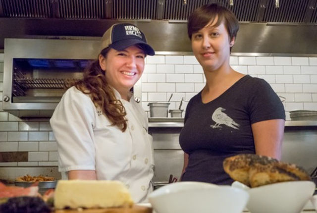 Emily Agnew-Seiler (L) and Hannah White are the chef's behind Women on Fire. -- photo by Helaina Thompson