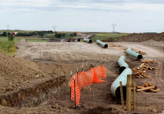 Dakota Access pipeline construction -- photo by Lars Plougmann