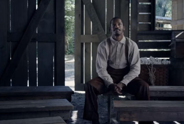 Nate Parker as Nat Turner in a video still from 'The Birth of a Nation.'