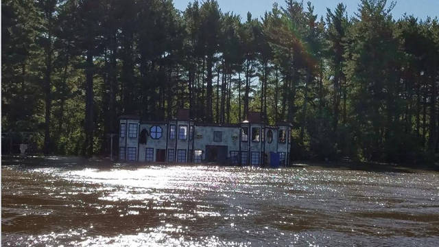 Flooding at the Linn County Fairgrounds threatened the haunt's return. -- photo courtesy of Circle of Ash.