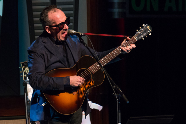 Elvis Costello performs at the Paramount Theatre in Cedar Rapids. Monday, Oct. 3, 2016. -- photo by Zak Neumann