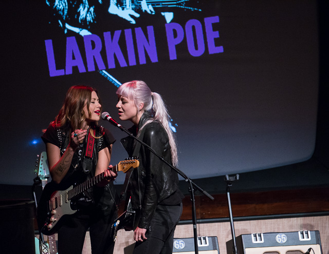 Larkin Poe opening for Elvis Costello at the Paramount Theatre in Cedar Rapids. Monday, Oct. 3, 2016. -- photo by Zak Neumann