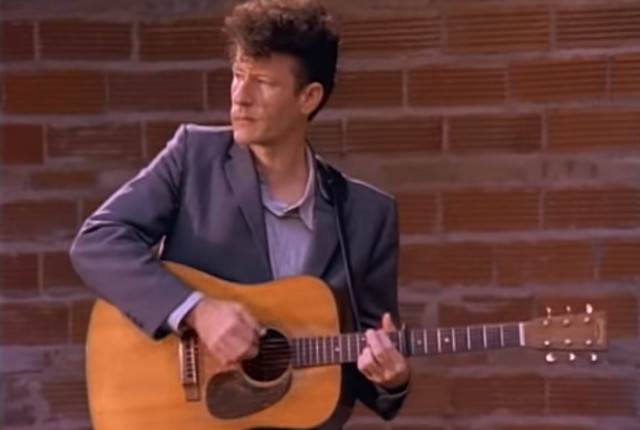 "Screenshot from ""This Old Porch,"" from Lyle Lovett's self-titled debut. He wrote the song with Robert Earl Keen."