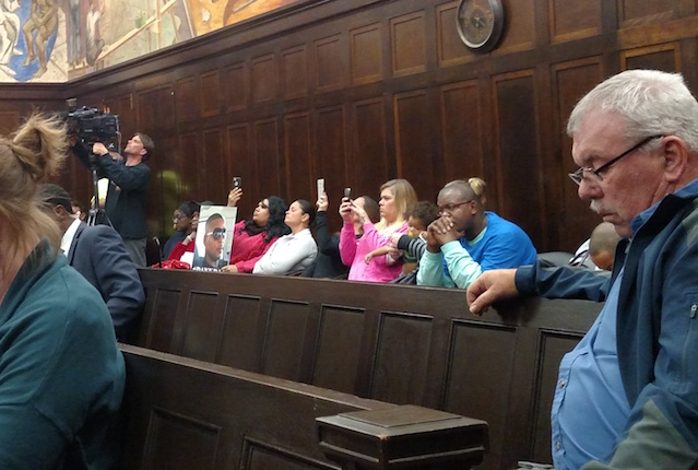 Family members and members of the community at the Cedar Rapids City Council's Tuesday, Nov. 15, 2016 meeting listened to public comments made about the officer-involved shooting of Jerime 'Danky' Mitchell. -- photo by Lauren Shotwell