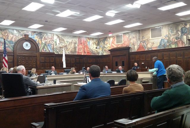 Avery Cassell, who grew up with Jerime 'Danky' Mitchell, spoke during the Cedar Rapids City Council Meeting on Tuesday, Nov. 15, 2016. -- photo by Lauren Shotwell