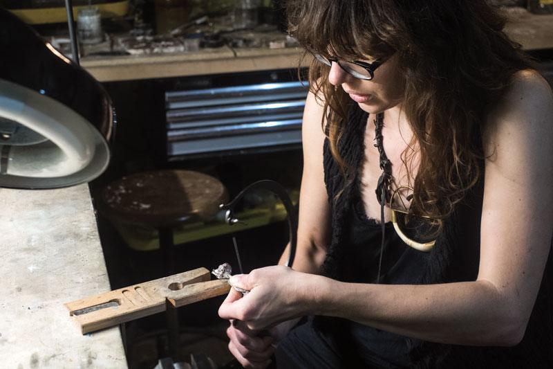 Lindsay Chastain in her studio. photo by Frankie Schneckloth