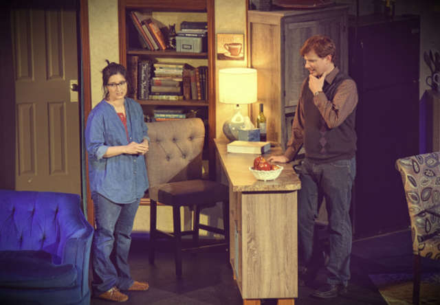 Rachel Howell (left) and Matthew James as Becca and Howie. -- photo courtesy of Giving Tree Theater