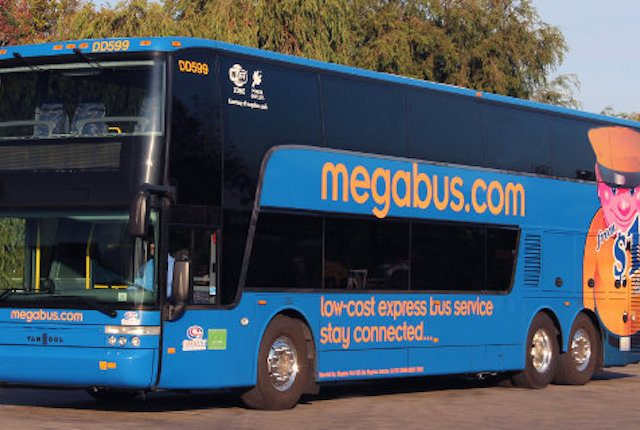Megabus will be cutting its services to Iowa City when it does away with its Chicago-Omaha route in January 2017. -- photo via Megabus