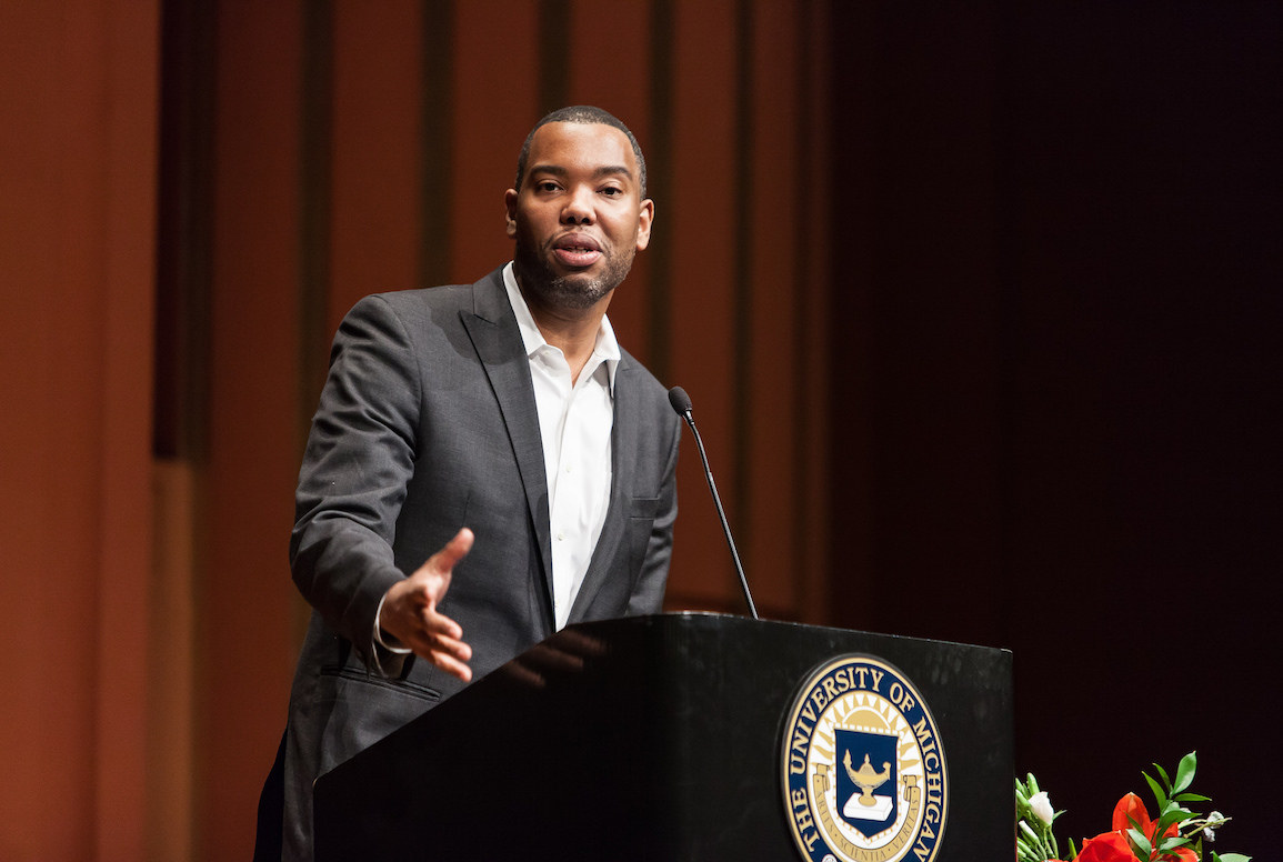 Ta-Nehisi Coates delivered a lecture at the University of Michigan in 2015. He will be on the Iowa State University campus on Monday, Jan. 30, 2017. — photo by Sean Carter Photography via Flickr Creative Commons