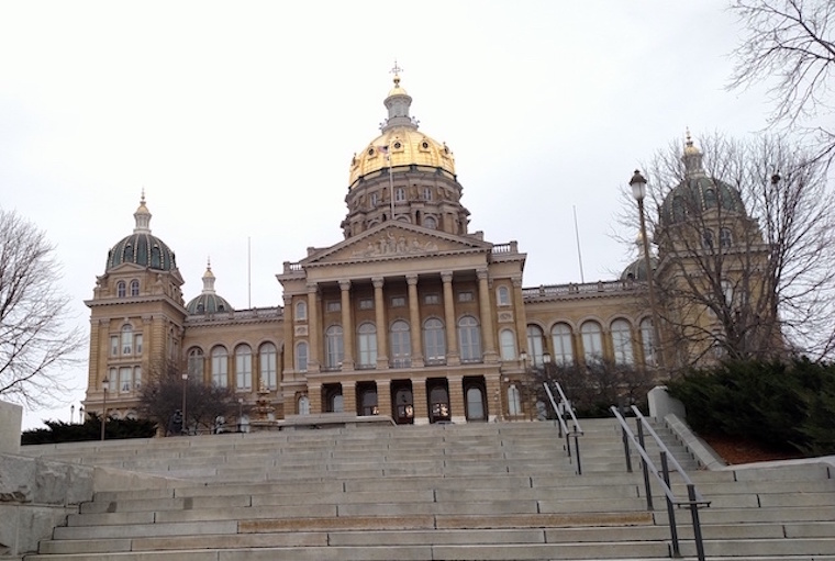 The Iowa Capitol shown on the opening day of the Iowa Legislature, Jan. 9, 2017. -- photo by Lauren Shotwell