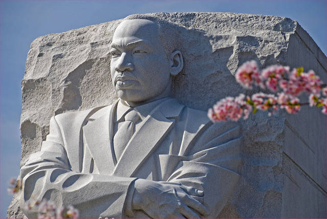 The Martin Luther King, Jr. memorial in Washington, DC -- photo by Ron Cogswell