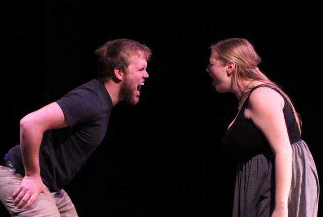 Skylar Matthias (L) and Amiee Townsend in 'Tender Napalm' -- photo courtesy of Lightswitch Theatre Company