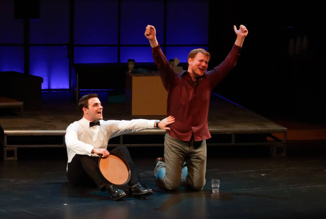 John Miersen (L) and Matthew James in Theatre Cedar Rapids' production of 'Next Fall' -- photo by Struttmann Photo