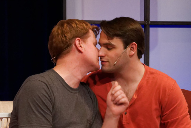 Matthew James (L) and John Miersenin Theatre Cedar Rapids' production of 'Next Fall' -- photo by Struttmann Photo