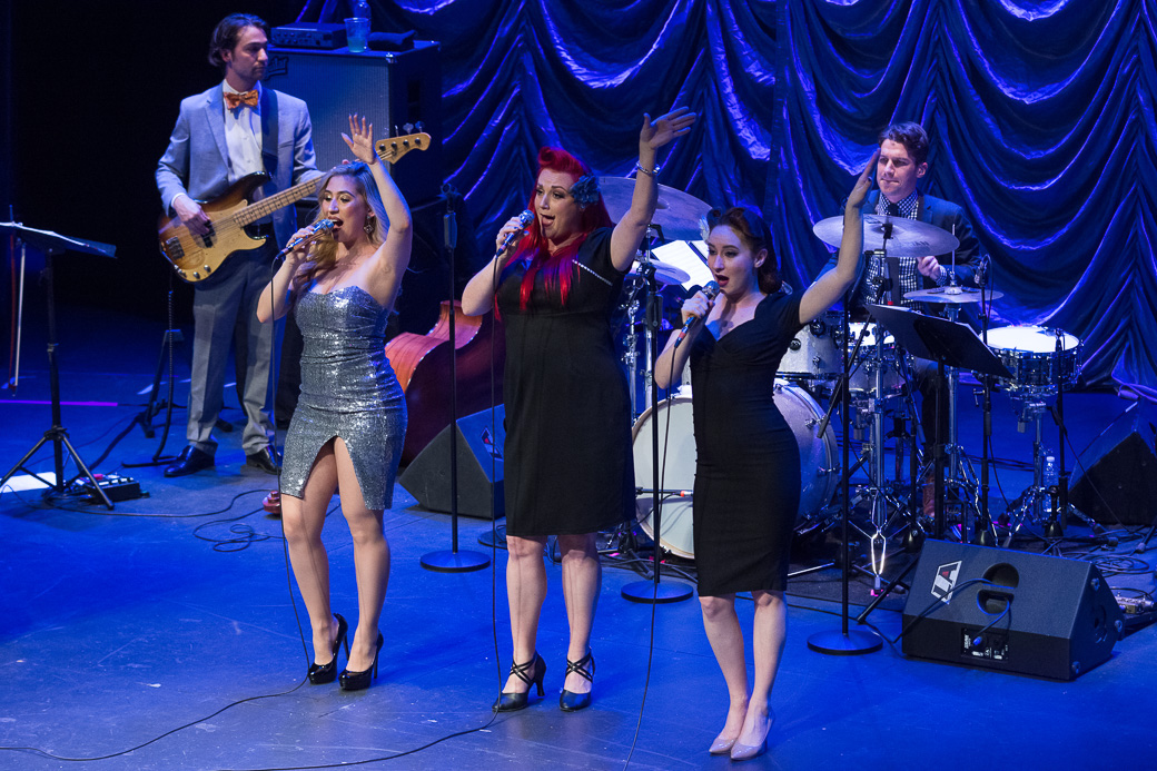Scott Bradlee's Postmodern Jukebox performs for a sold out Englert Theatre. Wednesday, Jan. 25, 2017. -- photo by Zak Neumann.