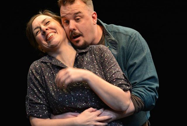 Kristy Hartsgrove Mooers and Patrick Du Laney in Riverside Theatre's 'A View From the Bridge -- photos by Riverside Theatre