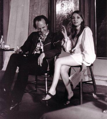 Bibbe Hansen and her dad, Al Hansen in 1968. -- photo courtesy of the Al Hansen Archive