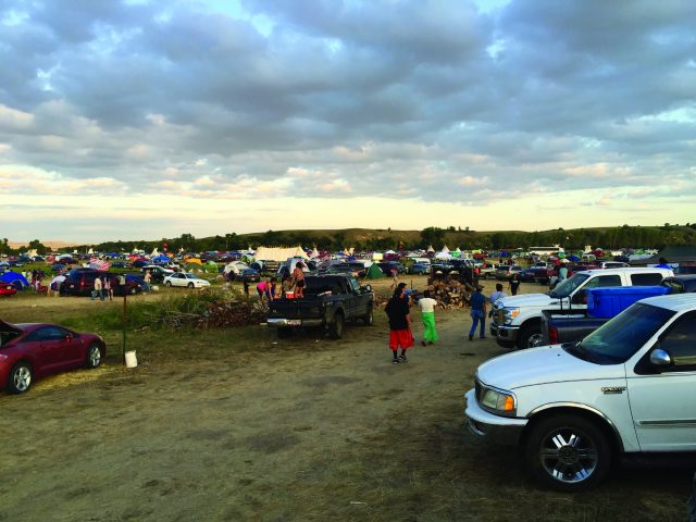 Water protectors camped at Standing Rock. Photo by Christine Nobiss