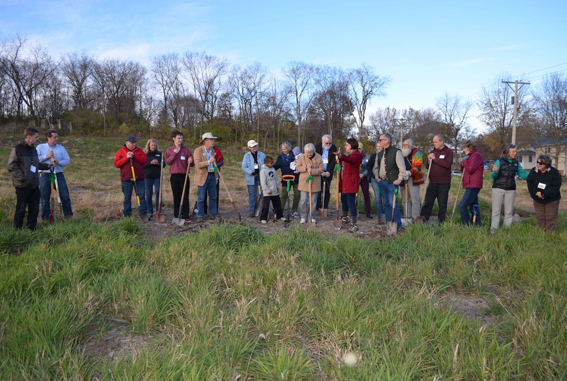 Iowa City Cohousing held a groundbreaking ceremony on Nov. 13, 2016 for its Prairie Hill development. -- photo via Iowa City Cohousing