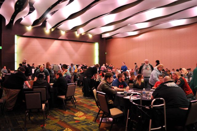 Tabletop gaming provided by Mindbridge Foundation at Cedar Rapids Comic Con. Saturday, Feb. 4, 2017. -- photo by Sofi Shannon