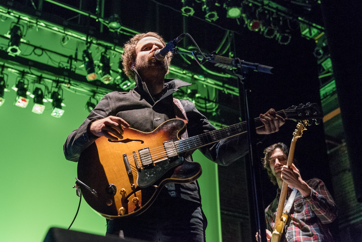 Tanner Goldsmith and Wiley Gelber of Dawes on stage at Englert Theatre. Saturday, Feb. 4, 2017. -- photo by Zak Neumann.