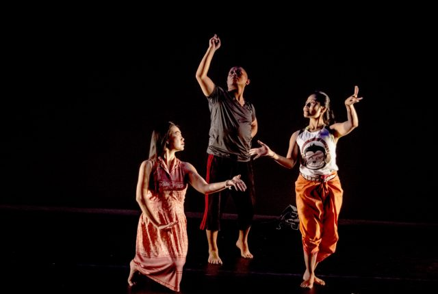 The dancers in 'Soil,' L-R: Sirisook, Nguyên and Chey. -- photo by Miriam Alarcón Avila