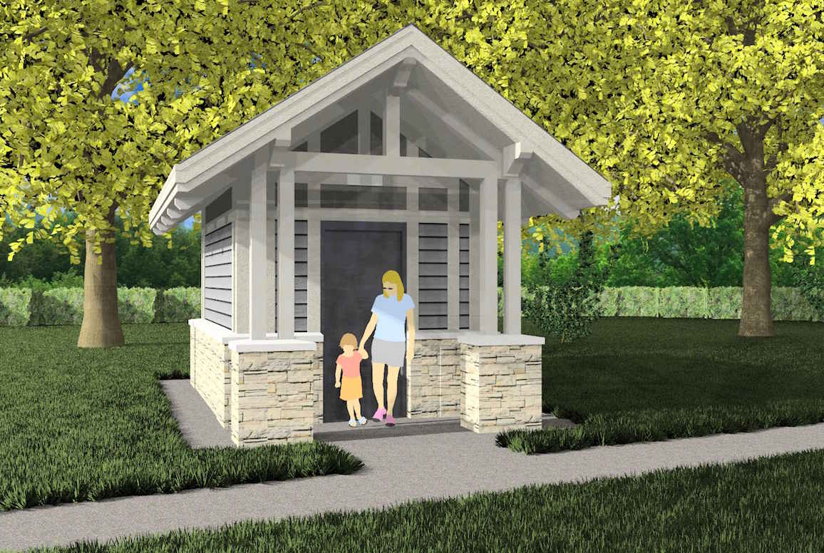 Construction coming to two iowa city parks little village for Park restroom design