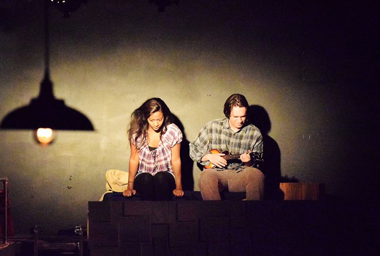 Tierra Plowden And Dustin Davis In Six Degrees Of Separation P O Courtesy Of Giving Tree Theater