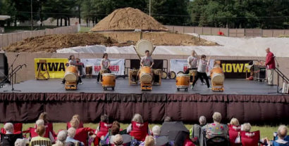 San Jose Taiko at the new Hancher Site