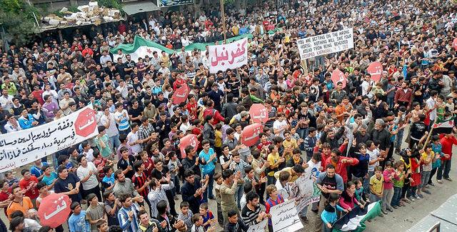 Assad protest