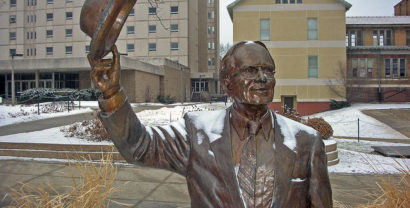The Irving Weber statue is ten years old this month