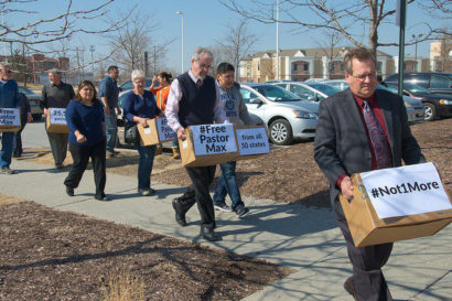 Petition signatures on delivery