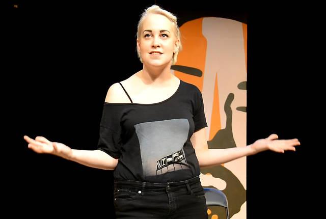 Emily Winkleblack in Riverside Theatre's 'Roar!'