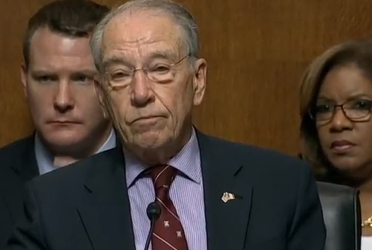 6075558f7d5a Chuck Grassley presiding over the Senate Judiciary Committee s  consideration of Brett Kavanaugh s nomination