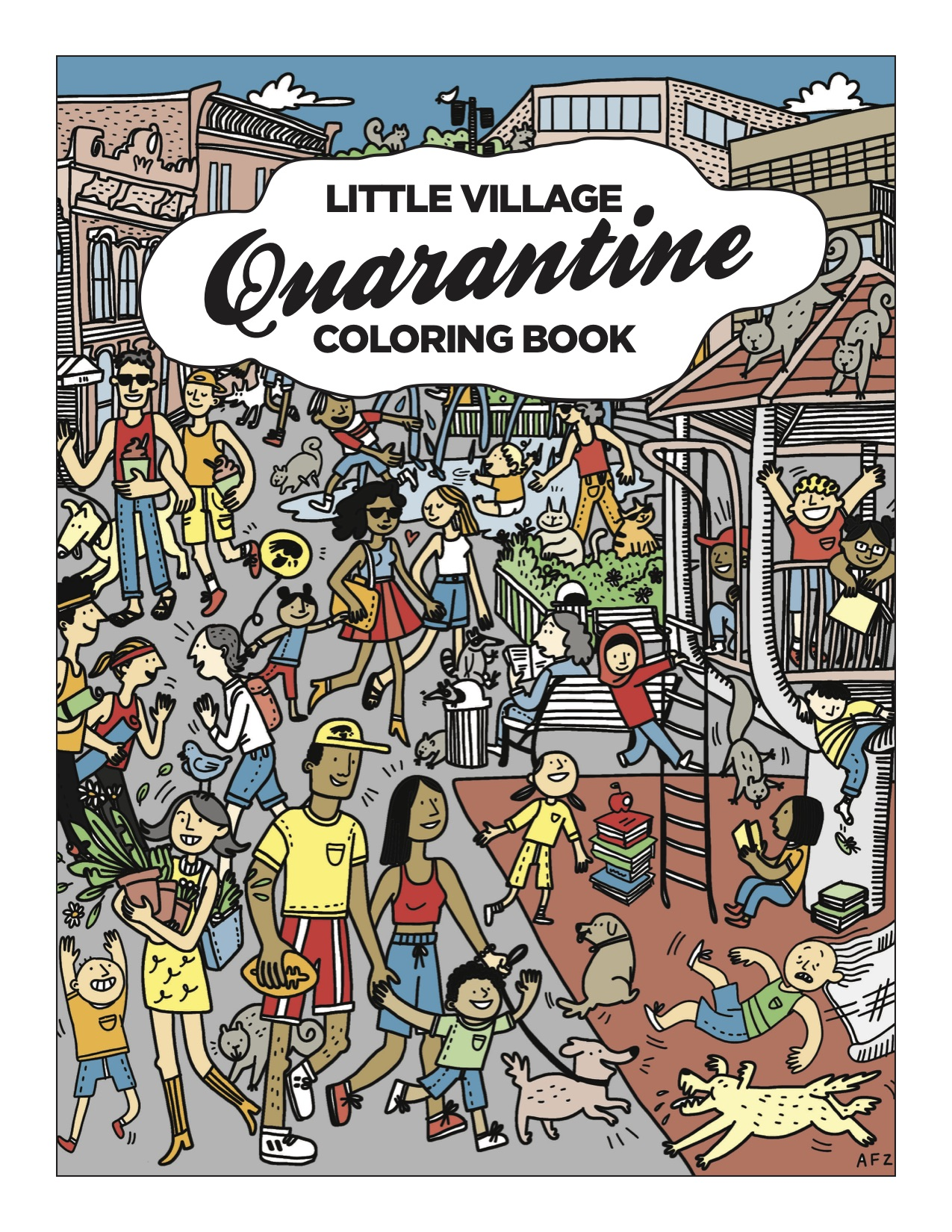 Little Village Quarantine Coloring Book Digital Download Little Village